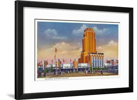 Chicago, Illinois - General Motors Exhibit, 1934 World's Fair-Lantern Press-Framed Art Print