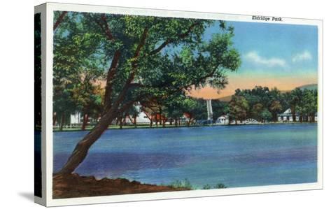 Elmira, New York - View of Eldridge Park-Lantern Press-Stretched Canvas Print