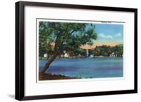 Elmira, New York - View of Eldridge Park-Lantern Press-Framed Art Print