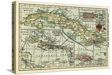 Cuba - Panoramic Map-Lantern Press-Stretched Canvas Print