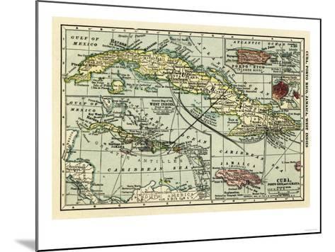 Cuba - Panoramic Map-Lantern Press-Mounted Art Print