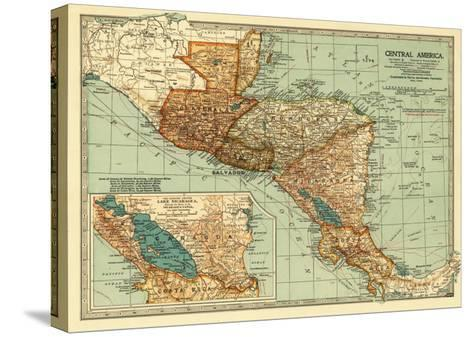 Central America - Panoramic Map-Lantern Press-Stretched Canvas Print