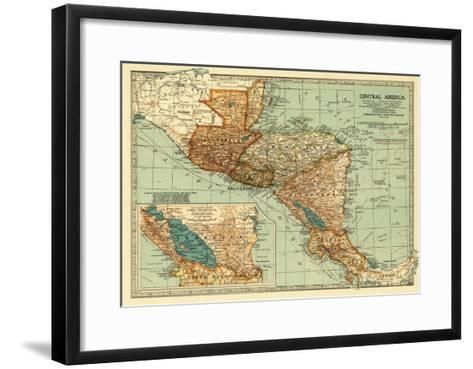 Central America - Panoramic Map-Lantern Press-Framed Art Print