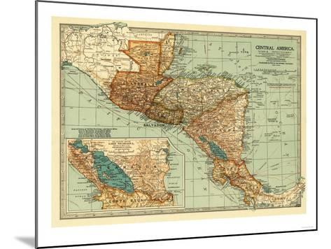Central America - Panoramic Map-Lantern Press-Mounted Art Print