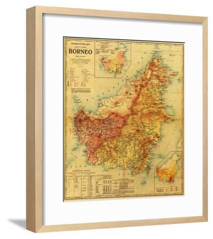 Borneo - Panoramic Map-Lantern Press-Framed Art Print