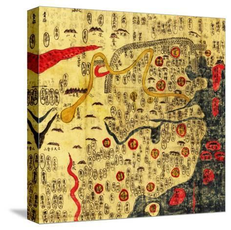 Ming Empire, China - Panoramic Map-Lantern Press-Stretched Canvas Print