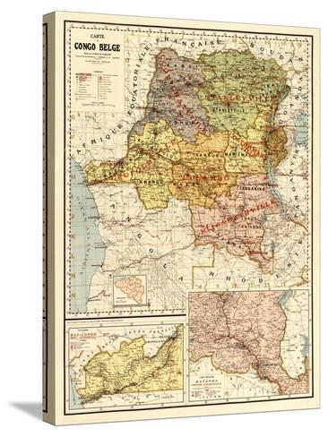 Congo - Panoramic Map-Lantern Press-Stretched Canvas Print