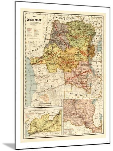 Congo - Panoramic Map-Lantern Press-Mounted Art Print
