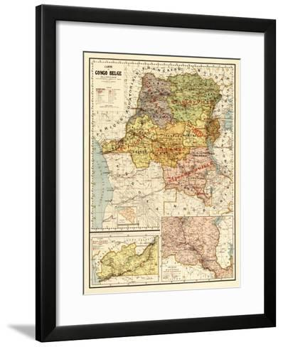 Congo - Panoramic Map-Lantern Press-Framed Art Print