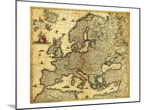 Europe - Panoramic Map-Lantern Press-Mounted Art Print