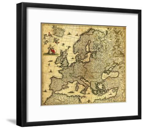 Europe - Panoramic Map-Lantern Press-Framed Art Print