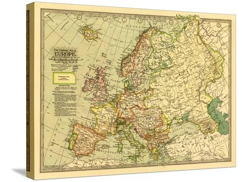 Europe - Panoramic Map-Lantern Press-Stretched Canvas Print