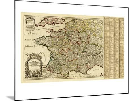 France - Panoramic Map-Lantern Press-Mounted Art Print