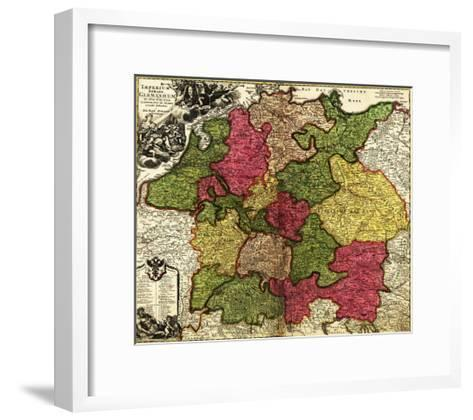 Germany - Panoramic Map-Lantern Press-Framed Art Print