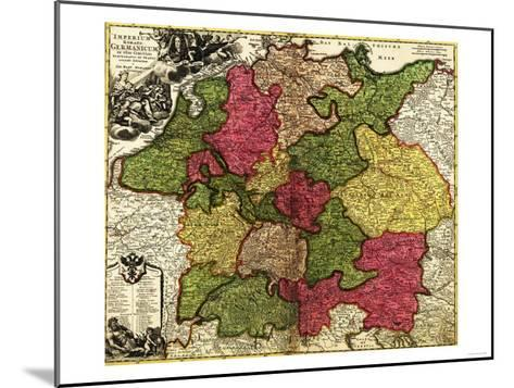 Germany - Panoramic Map-Lantern Press-Mounted Art Print