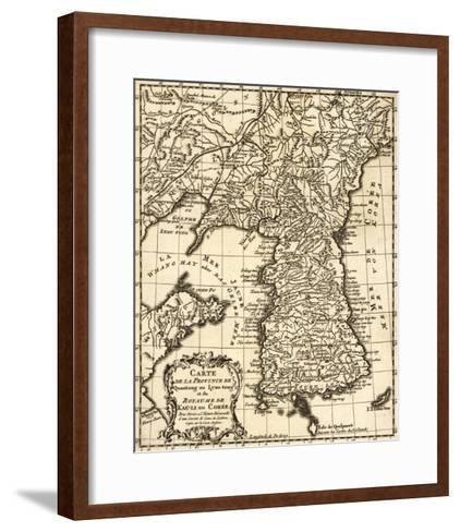 Korea - Panoramic Map-Lantern Press-Framed Art Print