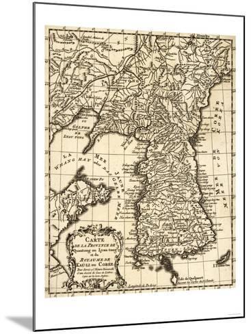 Korea - Panoramic Map-Lantern Press-Mounted Art Print