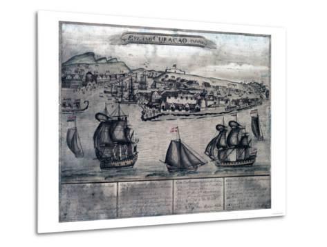 Curacao - Panoramic Map-Lantern Press-Metal Print