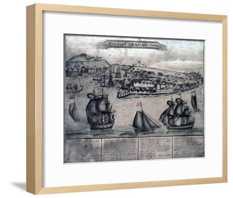 Curacao - Panoramic Map-Lantern Press-Framed Art Print