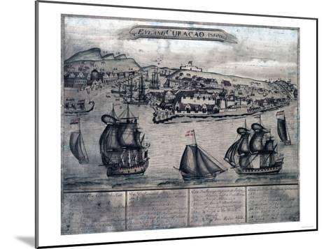 Curacao - Panoramic Map-Lantern Press-Mounted Art Print