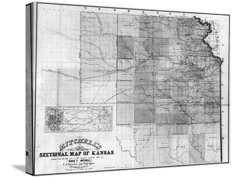 Kansas - Panoramic Map-Lantern Press-Stretched Canvas Print