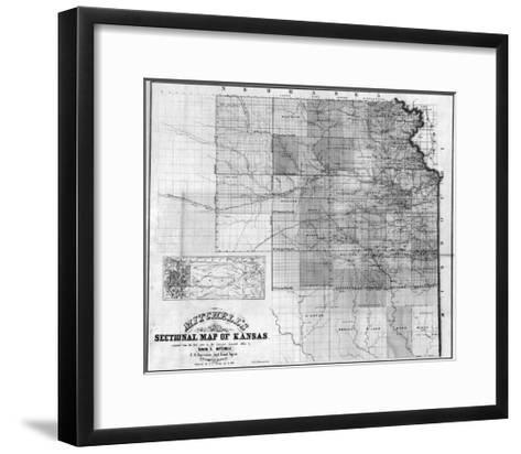 Kansas - Panoramic Map-Lantern Press-Framed Art Print