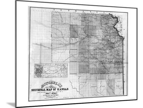 Kansas - Panoramic Map-Lantern Press-Mounted Art Print