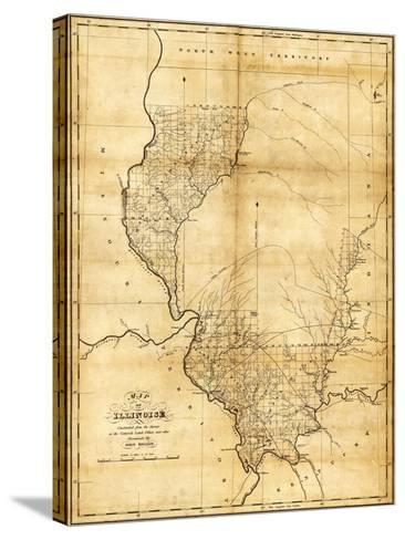 Illinois - Panoramic Map-Lantern Press-Stretched Canvas Print