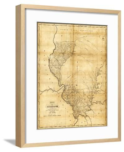 Illinois - Panoramic Map-Lantern Press-Framed Art Print