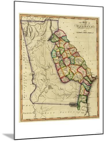 Georgia - Panoramic Map-Lantern Press-Mounted Art Print