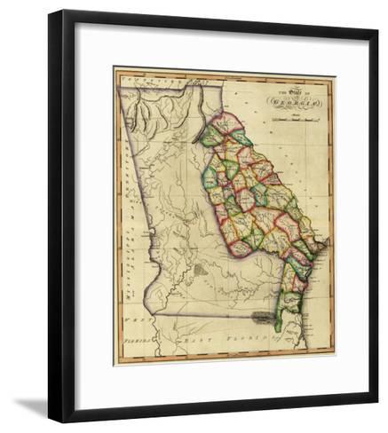Georgia - Panoramic Map-Lantern Press-Framed Art Print