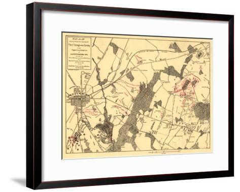 Battle of Gettysburg - Civil War Panoramic Map-Lantern Press-Framed Art Print