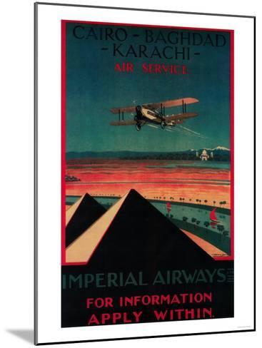 Cairo - Bagdad-Lantern Press-Mounted Art Print
