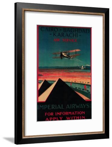 Cairo - Bagdad-Lantern Press-Framed Art Print