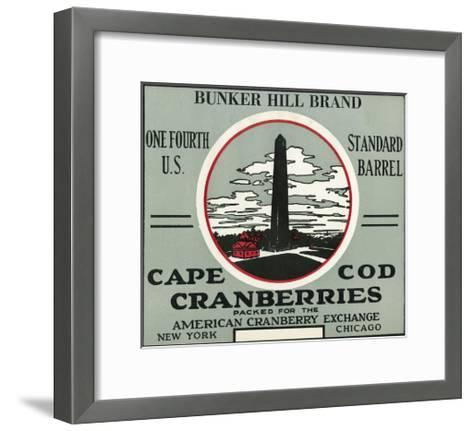 Cape Cod, Massachusetts - Bunker Hill Brand Cranberry Label-Lantern Press-Framed Art Print