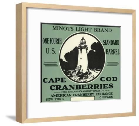 Cape Cod, Massachusetts - Minots Light Brand Cranberry Label-Lantern Press-Framed Art Print