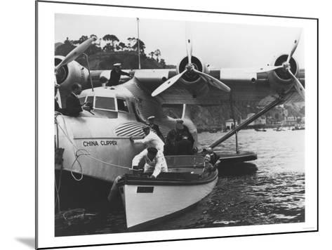 Glenn Martin with China Clipper - Catalina 25th Anniversary Photograph-Lantern Press-Mounted Art Print