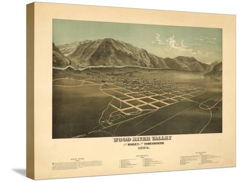 Idaho - Panoramic Map of Hailey-Lantern Press-Stretched Canvas Print