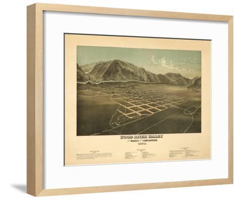 Idaho - Panoramic Map of Hailey-Lantern Press-Framed Art Print