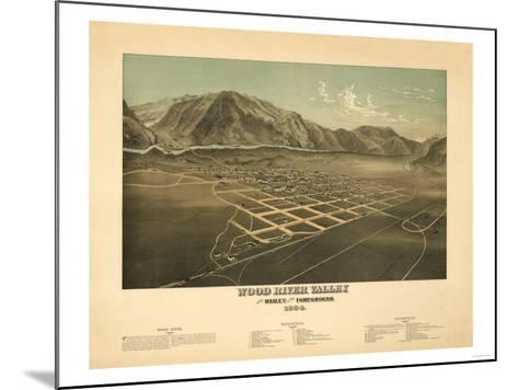 Idaho - Panoramic Map of Hailey-Lantern Press-Mounted Art Print
