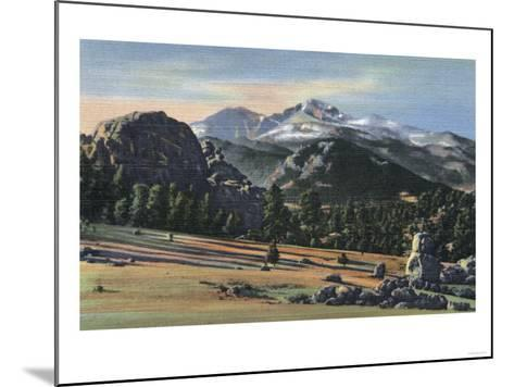 Estes Park, Colorado - Longs Peak View-Lantern Press-Mounted Art Print