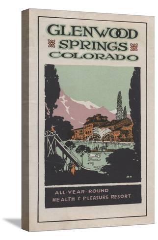 Glenwood Springs, Colorado - Health Resort Poster No. 2-Lantern Press-Stretched Canvas Print