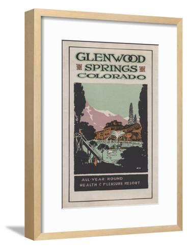 Glenwood Springs, Colorado - Health Resort Poster No. 2-Lantern Press-Framed Art Print