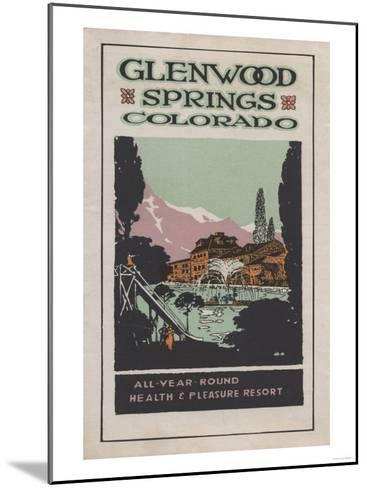 Glenwood Springs, Colorado - Health Resort Poster No. 2-Lantern Press-Mounted Art Print