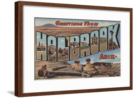 Holbrook, Arizona - Large Letter Scenes-Lantern Press-Framed Art Print