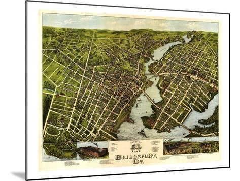 Bridgeport, Connecticut - Panoramic Map-Lantern Press-Mounted Art Print