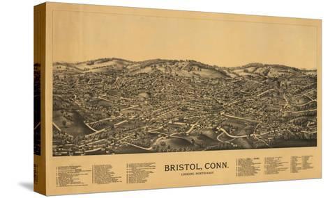 Bristol, Connecticut - Panoramic Map-Lantern Press-Stretched Canvas Print