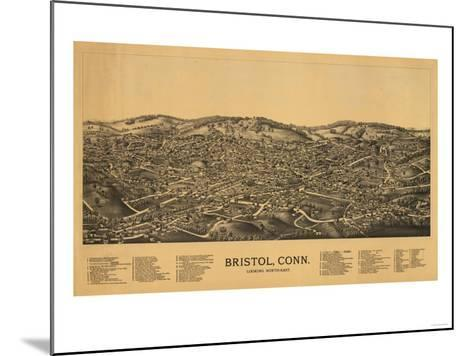 Bristol, Connecticut - Panoramic Map-Lantern Press-Mounted Art Print
