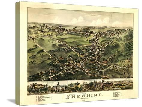 Cheshire, Connecticut - Panoramic Map-Lantern Press-Stretched Canvas Print