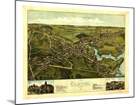 Clinton, Connecticut - Panoramic Map-Lantern Press-Mounted Art Print